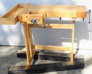 Lervad Woodworking Table Bench Made in Denmark Excellent Condition