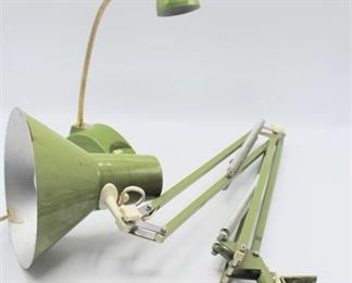 Mid Century Clamp Light for Desk or Workbench and Small Desk Lamp