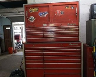 #1  -Snap-On Classic 15 drawer rolling tool box with 9 drawer Snap-On stackable. Additional storage built on top. Selling as one unit