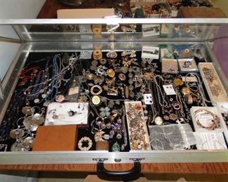 Large amount of vintage costume and Sterling Silver jewelry