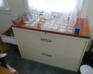 glasses and legal file cabinet - File Cabinet $40