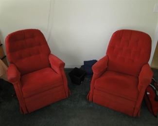 Two Red chairs $40 each