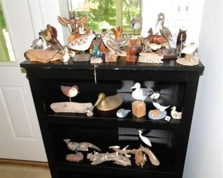 Bird and duck collection and Bookcase
