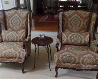 pair country french chairs  $1,600