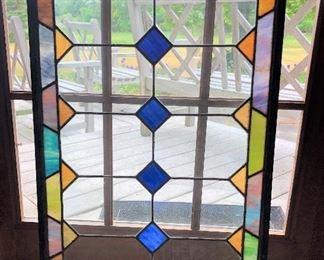 """B45 - STAINED GLASS WINDOW, 21"""" x 33"""""""
