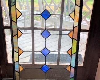 """B46 - STAINED GLASS WINDOW, 21"""" x 33"""""""