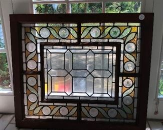 B44 - LARGE STAINED GLASS WINDOW
