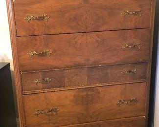 Antique 6 drawer chest.