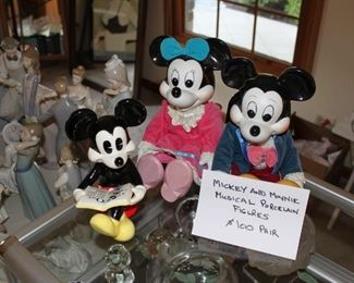 Mickey and Minnie porcelain figurines