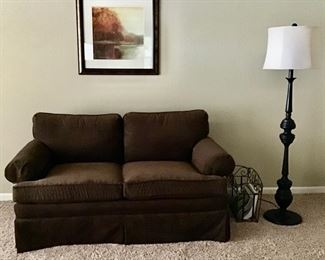 Brown Love Seat, Price is $225.00