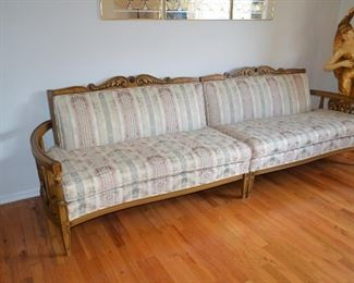 """$280 Vintage 1960's Sectional Sofa (3 Pieces)  54 1/2"""" plus 54 1/2"""" center 1/2 round 66 1/2 x 30""""D x 31""""H Excellent condition.  No Stains or Rips. Smoke and Pet Free"""