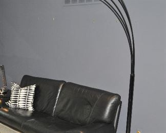 """MODERN 5 ARMED METAL WITH A GLOSS FINISH ARCH 86"""" FLOOR LIGHT FIXTURE ON U-SHAPE BASE. OUR PRICE $125.00"""