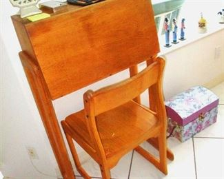 Mid Century teak desk and chair