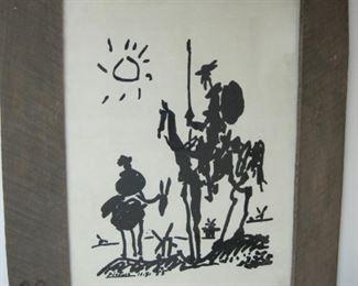 Don Quixote Picasso Print
