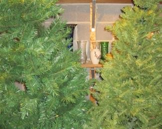 3 really nice 6 ft Christmas trees, I know it's not that time of year but these are really nice!!