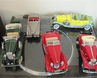 Franklin mint and Danbury mint cars