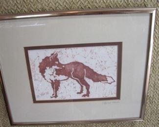 Print of fox