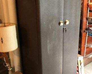 vintage storage locker with key