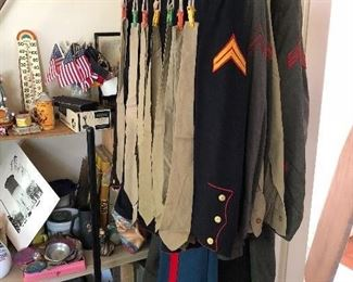 WWII uniforms and accessories