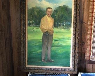 Arnold Palmer portrait or some say it's Ben Hogan