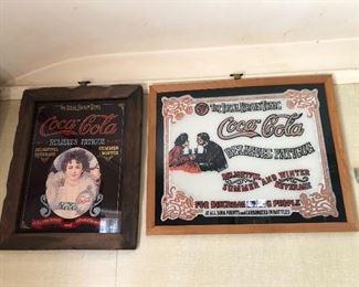 Coca Cola mirrored advertising