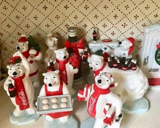 Coca Cola Polar Bear figurines