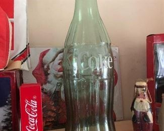 jumbo glass Coca Cola bottle