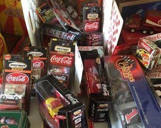 NIB Coca Cola cars, toys, matchbox