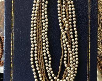 Miriam Haskell multi strand vintage necklace