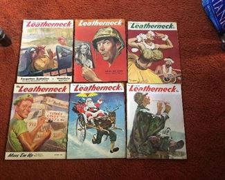 WWII 1944-5 Marines The Leatherneck issues - upper right issue is SOLD