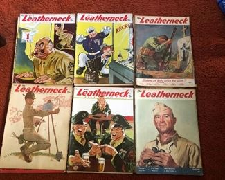 WWII 1944-5 Marines The Leatherneck issues