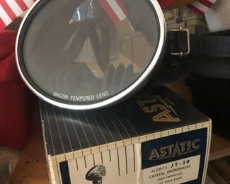 vintage mask & microphone