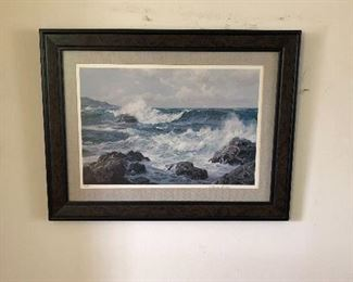 Charles Vickery signed Seascape print