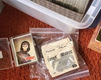 Planet of the Apes cards Spook Stories trading cards