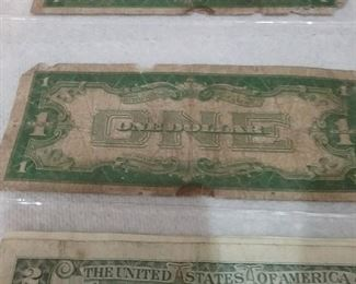 1928 funnyback dollars and  other$2 bills