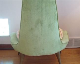 Living Room:  One more photo... the back side of the Mid-Century Modern KARPEN of CALIFORNIA chair.