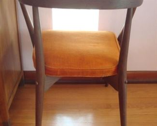 Dining Area:  Shown is the back side of the Mid-Century Modern (Danish) chair.
