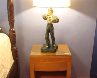 Bedroom:  Shown is the second of a pair of R-WAY side chests and the second Flamenco dancer lamp.