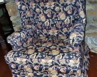 Wingback Chair by Amiga, Upholstered, Pineapple Design, Beautiful Condition: $25