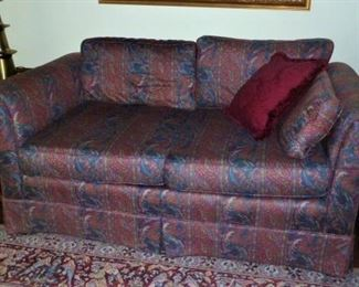 Hickory Craft Love Seat, Paisley Fabric, Loose Pillows: Special - $45