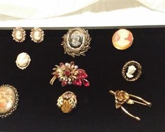 #5 Vintage unsigned costume jewelry lot. 9 pcs. $75