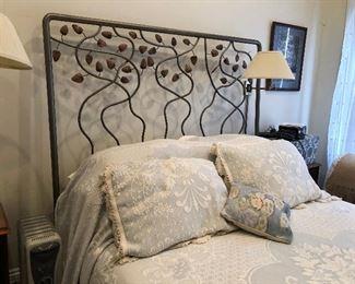 https://www.ebay.com/itm/114285539337PR106: Leaf Ornamental Queen Size Bed Frame (No Mattress) Estate Sale Pickup
