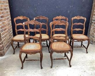 A collection of six good quality country French chairs