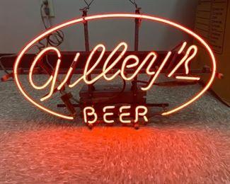 Gilleys Beer neon sign