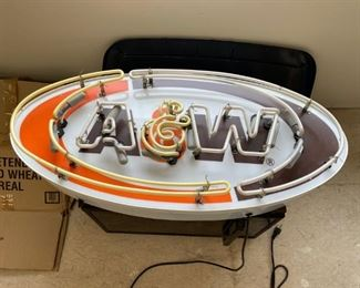A&W neon sign works $500