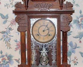 Antique 19th c. Girard Eight Day Clock Ansonia Clock Company
