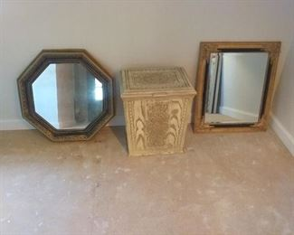2 Mirrors and Hamper