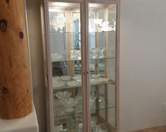 Lighted and Mirrored Cabinet