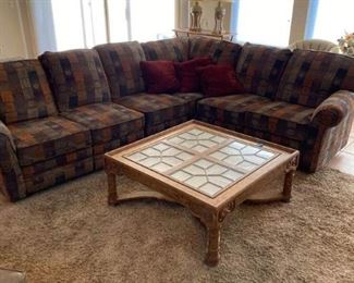 Sofa Pit Group and Coffee Table