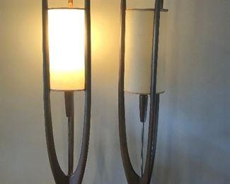 $599 Adrian Pearsall Modeline Atomic Mid Century Lamps.
